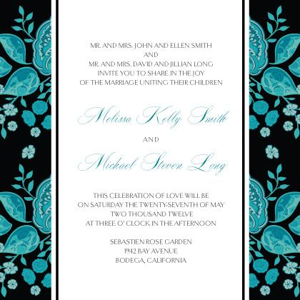 Wedding Invitation - Stately Roses