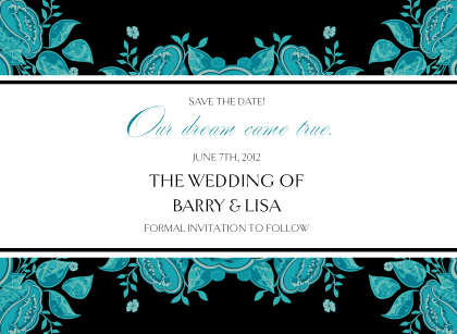 Save the Date Card - Stately Roses