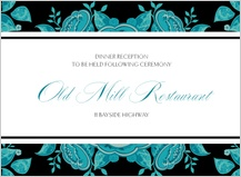 Reception Card - stately roses