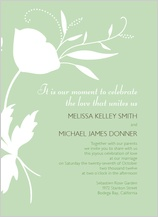 Wedding Invitation - poppy silhouettes