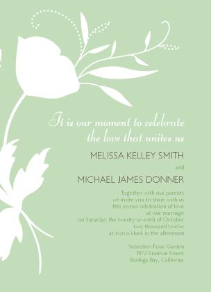 Wedding Invitation - Poppy Silhouettes