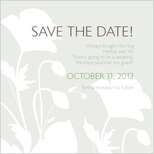 Save the Date Card - poppy silhouettes