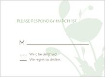 Response Card - poppy silhouettes