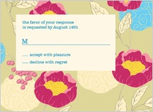Response Card - peonies and berries