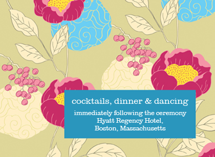Reception Card - PEONIES AND BERRIES