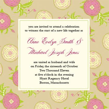 Wedding Invitation - Floral Arrangement