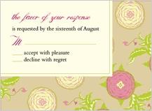 Response Card - floral arrangement