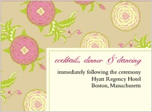 Reception Card - floral arrangement