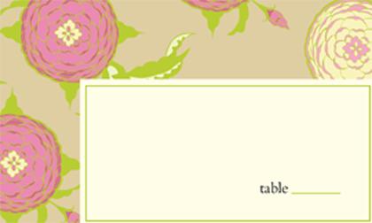 Place Card - Floral Arrangement