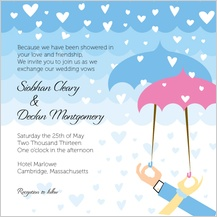 Wedding Invitation - showered in kindness