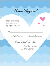 Response Card - showered in kindness