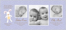 Multiples Birth Announcement with photo - little one