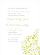 Wedding Invitation - floral lattice