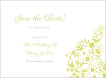 Save the Date Card - floral lattice