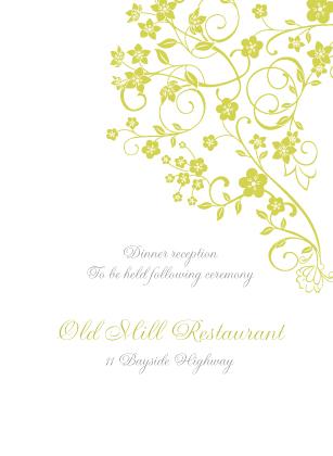 Reception Card - Floral Lattice