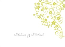 Wedding Thank You Card - floral lattice
