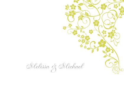 Wedding Thank You Card - Floral Lattice