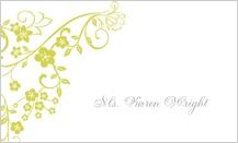 Place Card - floral lattice