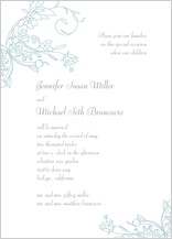 Wedding Invitation - delicate scrolls