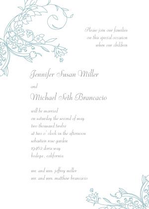 Wedding Invitation - Delicate Scrolls