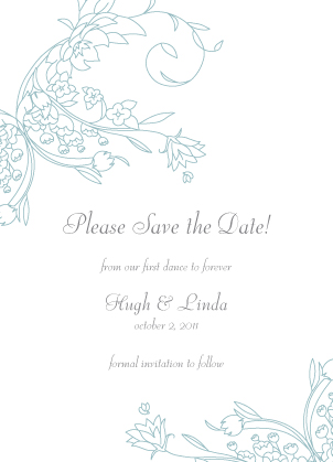 Save the Date Card - Delicate Scrolls