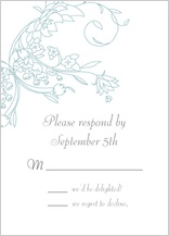 Response Card - delicate scrolls
