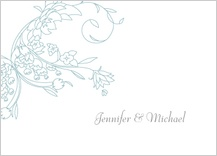 Wedding Thank You Card - delicate scrolls
