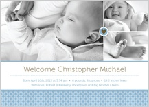 Birth Announcement with photo - little sweetie