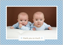 Baby Thank You Card with photo - little sweetie