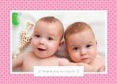 Baby Thank You Card with photo