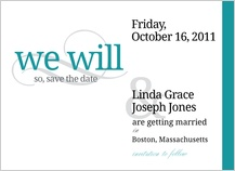 Save the Date Card - we will