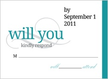Response Card - we will