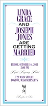 Wedding Invitation - tying the knot