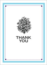 Wedding Thank You Card - tying the knot