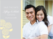 Save the Date Card with photo - mums wedding invite