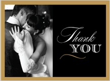 Wedding Thank You Card with photo - very vintage