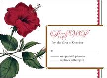 Response Card - vintage hibiscus