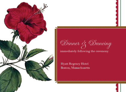 Reception Card - Vintage Hibiscus