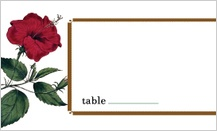 Place Card - vintage hibiscus