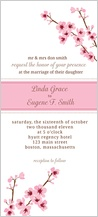 Wedding Invitation - cherry blossom time