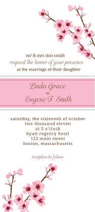 Wedding Invitation - cherry blossom time