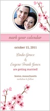 Save the Date Card with photo - cherry blossom time