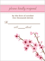 Response Card - cherry blossom time