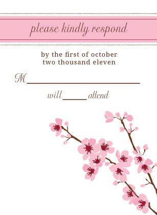 Response Card - cherry blossom time