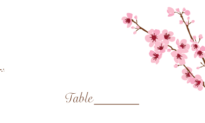 Place Card - cherry blossom time