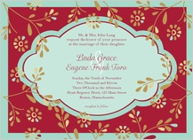 Wedding Invitation - flowers and frame