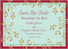 Save the Date Card - flowers and frame