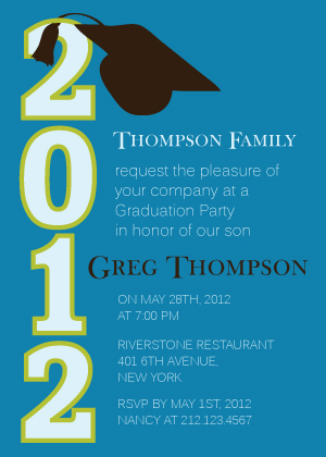 Graduation Party Invitation - Convocation Cap