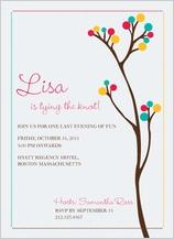 Wedding Shower Invitation - floral dots
