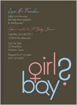 Baby Shower Invitation - boy or girl